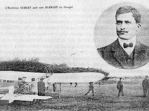 L'aviateur Gilbert et son Blériot